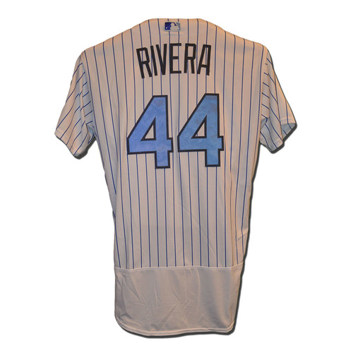 Photo of Rene Rivera #44 - Game Used Father's Day Jersey - Mets vs. Nationals - 6/18/17
