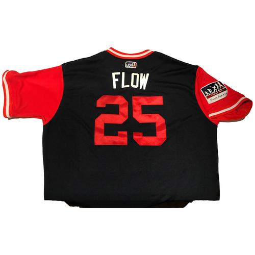 "Photo of Tyler ""Flow"" Flowers Atlanta Braves Game-Used Players Weekend Jersey"