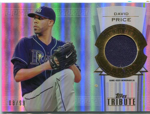 Photo of 2014 Topps Tribute Tribute Titans Relics  David Price 08/99 -- Red Sox post-season