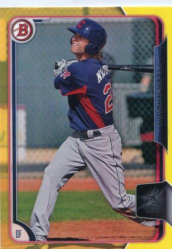 Photo of 2015 Bowman Prospects Yellow #BP89 Tyler Naquin -- Indians post-season