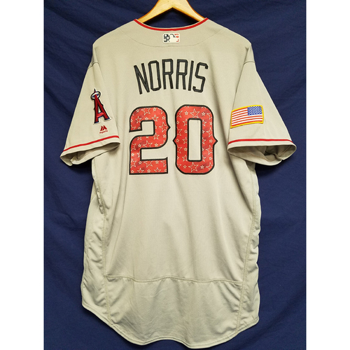Photo of Bud Norris Game-Used Road Jersey - 7/4/2017