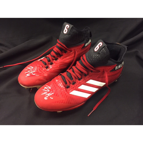 Billy Hamilton -- Autographed Cleats -- Cincinnati Reds