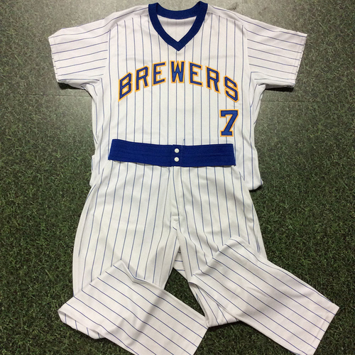 Eric Thames Game-Used 1982 Reunion Weekend Uniform