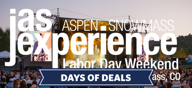 JAS ASPEN SNOWMASS & MEET ZAC BROWN BAND (LABOR DAY) + HOTEL STAY
