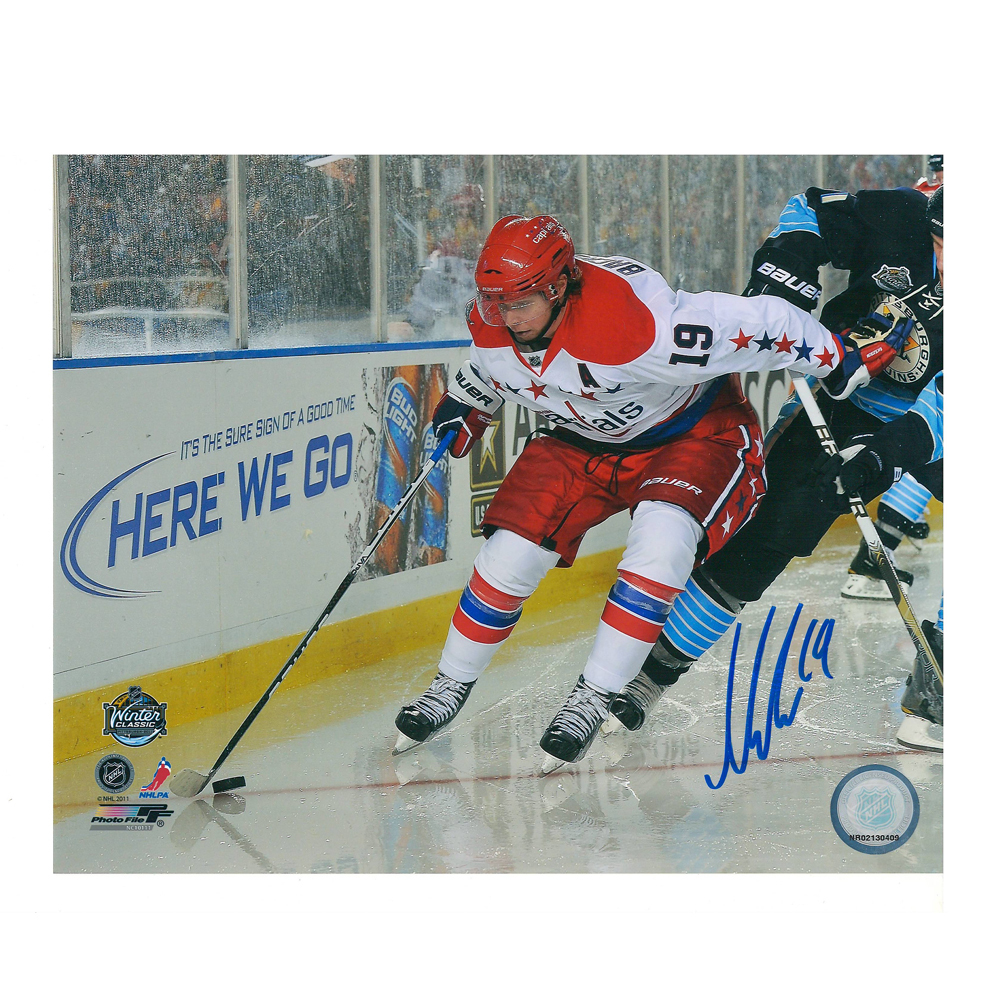 NICKLAS BACKSTROM Signed 2011 Winter Classic Washington Capitals 8 X 10 Photo - 70495