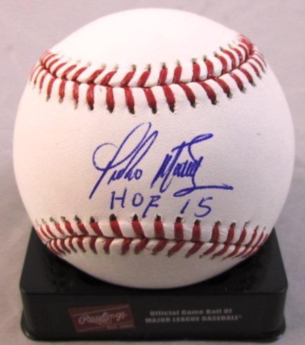 "Photo of Pedro Martinez ""HOF 15"" Autographed Baseball"