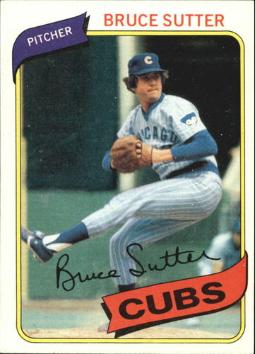 Photo of 1980 Topps #17 Bruce Sutter