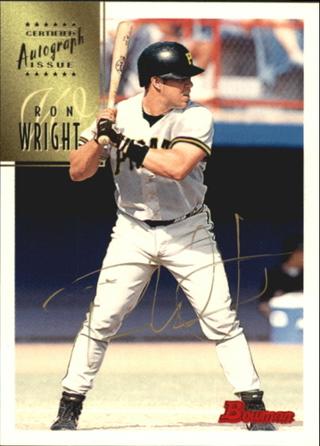 Photo of 1997 Bowman Certified Gold Ink Autographs #CA88 Ron Wright