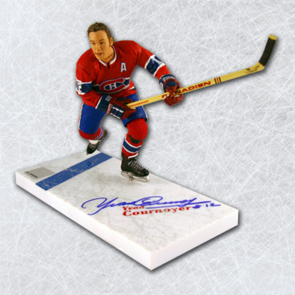 Yvan Cournoyer Montreal Canadiens Autographed McFarlane SP