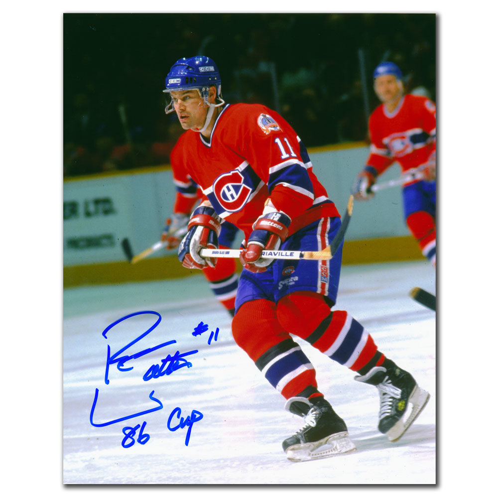 Ryan Walter Montreal Canadiens RUSH Autographed 8x10