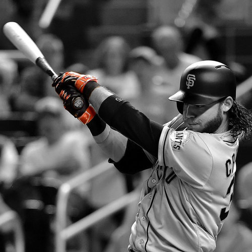 Photo of San Francisco Giants - 1x All-Star Brandon Crawford - MLB RECORD 7 HITS IN 1 GAME - Game Used Batting Gloves - Worn 8/8/16 - 7-8, 3B, 2B, 5 1B, 2 RBIs