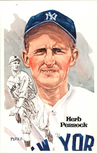 Photo of 1980-02 Perez-Steele Hall of Fame Postcards #54 Herb Pennock -- Set #08689