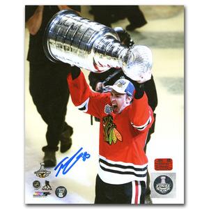Teuvo Teravainen Autographed Chicago Blackhawks 2015 Stanley Cup Champion 8X10 Photo