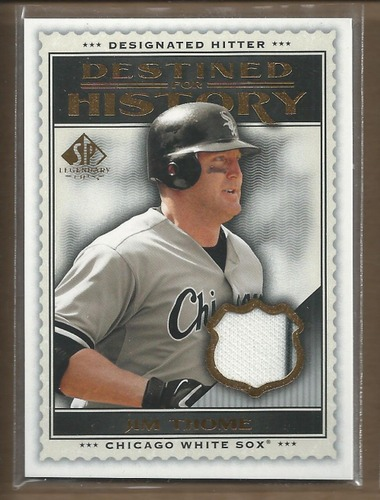 Photo of 2009 SP Legendary Cuts Destined for History Memorabilia #JT Jim Thome
