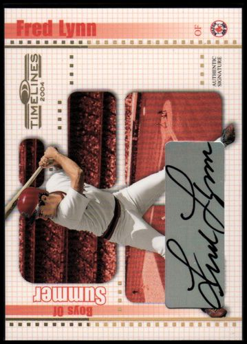 Photo of 2004 Donruss Timelines Boys of Summer Autograph Gold #15 Fred Lynn