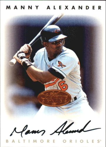 Photo of 1996 Leaf Signature Autographs #4 Manny Alexander