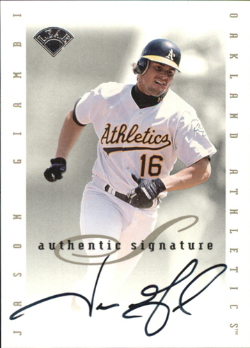 Photo of 1996 Leaf Signature Extended Autographs #58 Jason Giambi