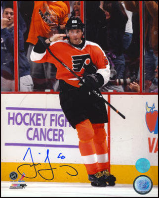 JAROMIR JAGR Philadelphia Flyers SIGNED 16x20 Salute Photo
