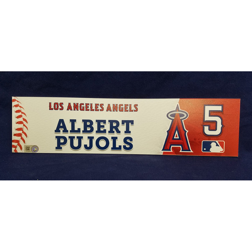 Photo of Albert Pujols Game-Used Clubhouse Locker Tag