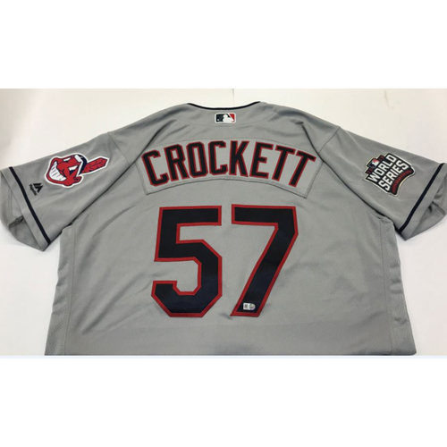 Photo of Kyle Crockett Team-Issued 2016 World Series Jersey