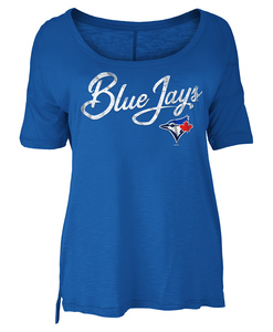 Toronto Blue Jays Women;s Slub Jersey T-shirt by New Era