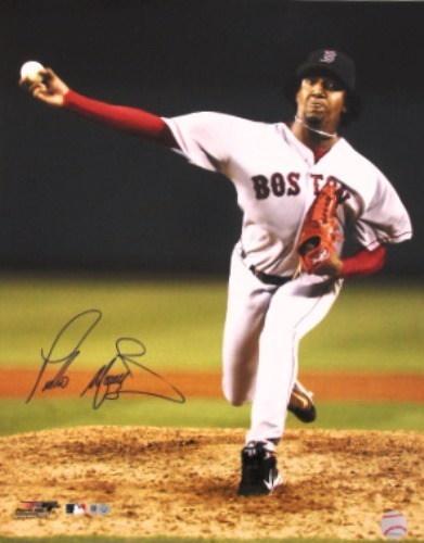 Photo of Pedro Martinez Red Sox Autographed 16x20