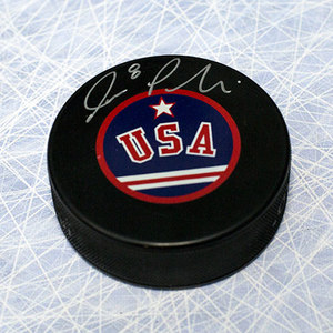 Joe Pavelski Team USA Autographed Olympic Puck *San Jose Sharks*