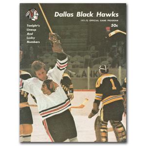 Dallas Black Hawks 1971-72 Official Game Program