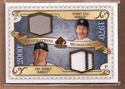 Photo of 2009 SP Legendary Cuts Generations Dual Memorabilia #GMLH Phil Hughes/Sparky Lyle