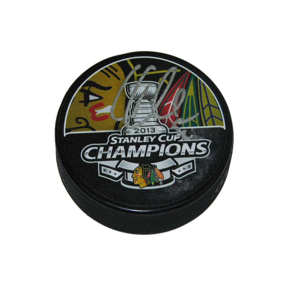 COREY CRAWFORD Signed Chicago Blackhawks 2013 Stanley Cup Champions Puck
