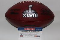 NFL - SUPER BOWL 48 GAME USED FOOTBALL W/ BRONCOS STAMP