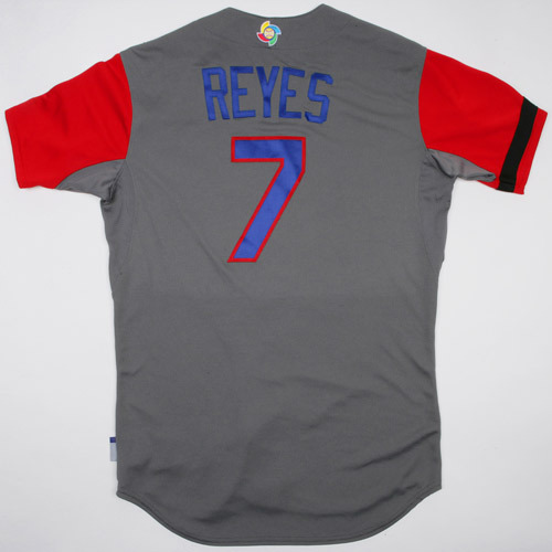 Photo of 2017 WBC Dominican Republic Game-Used Road Jersey, Reyes #7