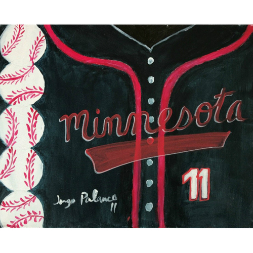 "Photo of 2017 Twins Favorite Things Auction: Jorge Polanco (20"" x 16"") Personally Painted and Autographed"
