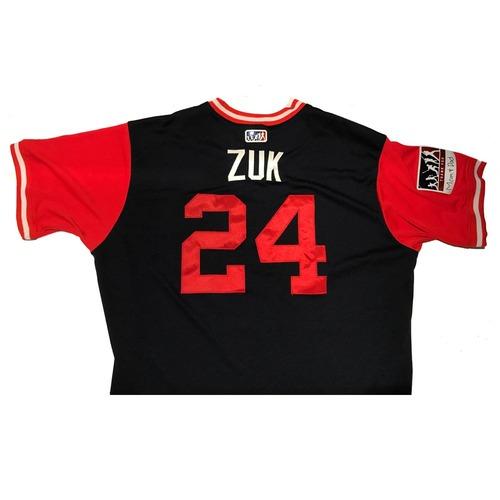 "Photo of Kurt ""Zuk"" Suzuki Atlanta Braves Game-Used Players Weekend Jersey"
