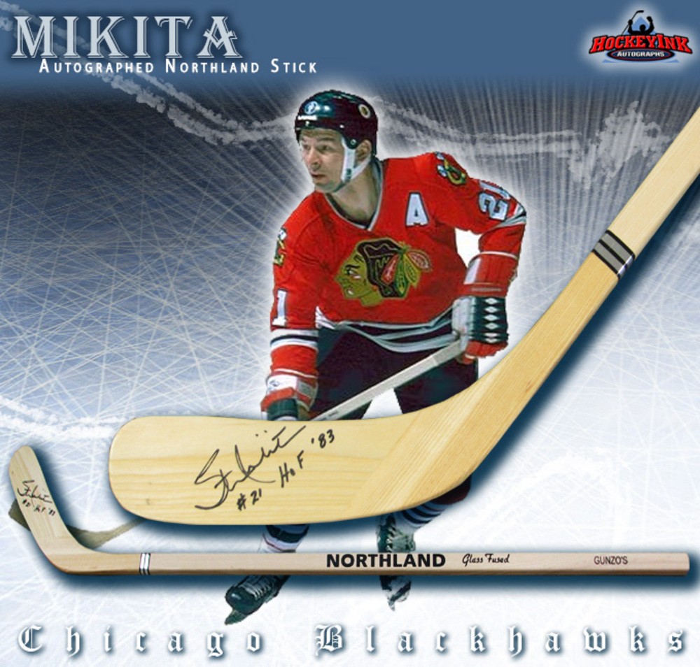 STAN MIKITA Signed Northland Wood Stick - Chicago Blackhawks