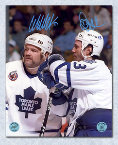 Doug Gilmour & Wendel Clark Toronto Maple Leafs Dual Autographed 16x20 Photo