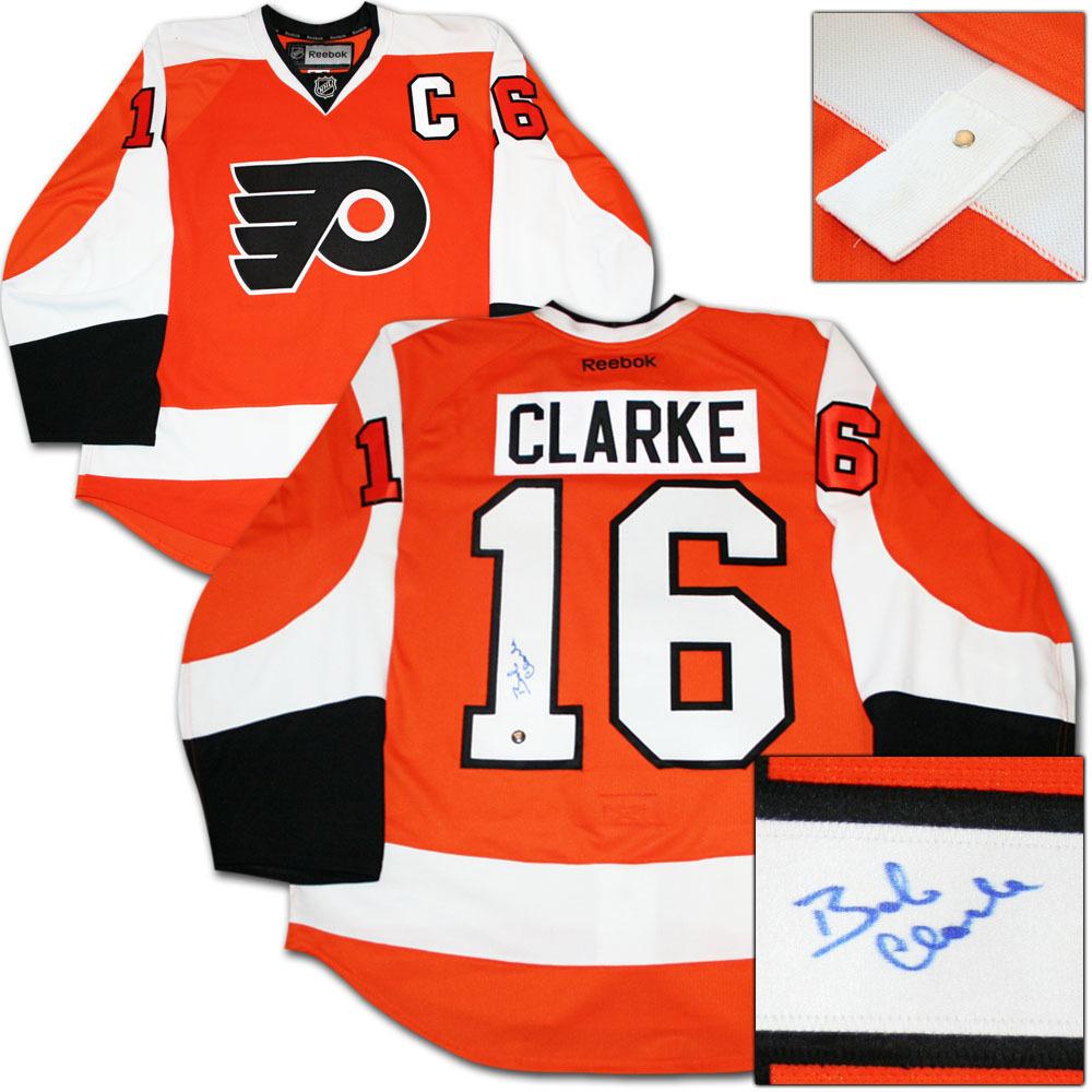 Bobby Clarke Autographed Philadelphia Flyers Authentic Pro Jersey