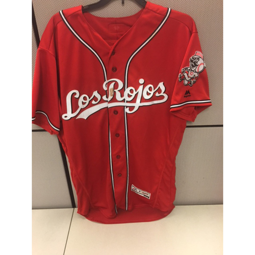 Photo of Joey Votto - Game-Used Los Rojos Jersey - Worn on 5/16/16, 8/13/16, and 9/16/16
