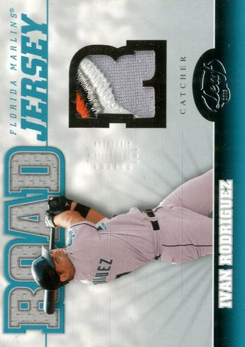 Photo of 2005 Leaf Home/Road Jersey Prime #7R Ivan Rodriguez R