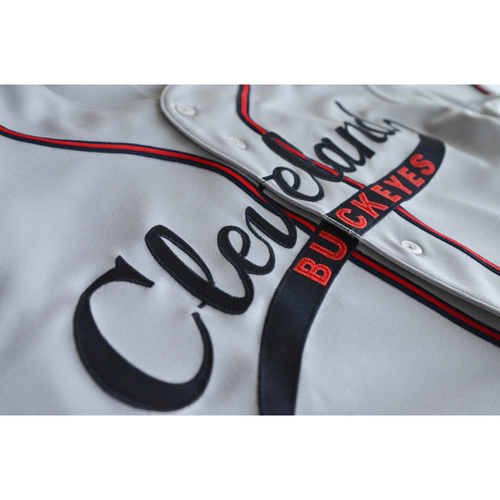 Photo of Jason Bere Autographed Game-Used Cleveland Buckeyes Jersey (5/7/2017) (Size 50)