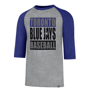 Toronto Blue Jays Club Raglan T-Shirt Grey/Royal by '47 Brand
