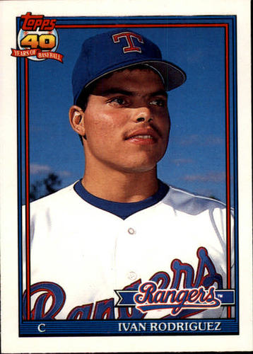 Photo of 1991 Topps Traded #101T Ivan Rodriguez Rookie Card