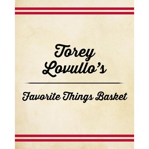 Photo of Torey Lovullo's Favorite Things Basket