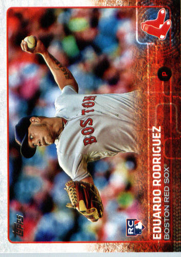 Photo of 2015 Topps Update #US127A Eduardo Rodriguez Rookie Card -- Red Sox post-season