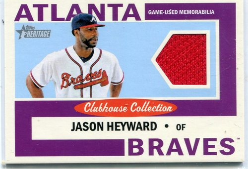 Photo of 2013 Topps Heritage Clubhouse Collection Relics Jason Heyward -- Cubs post-season