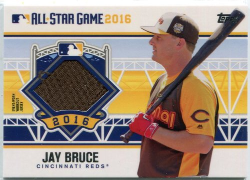 Photo of 2016 Topps Update All-Star Stitches Jay Bruce -- Indians post-season