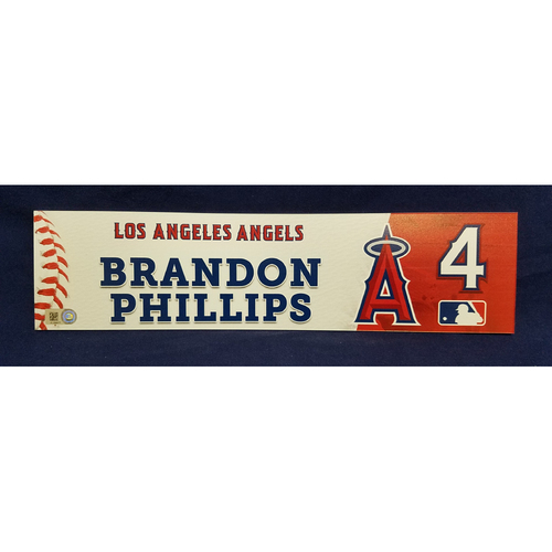 Photo of Brandon Phillips Game-Used Clubhouse Locker Tag