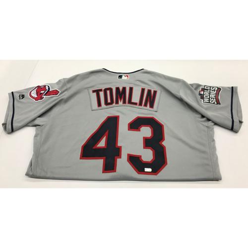 Josh Tomlin Team-Issued 2016 World Series Road Jersey