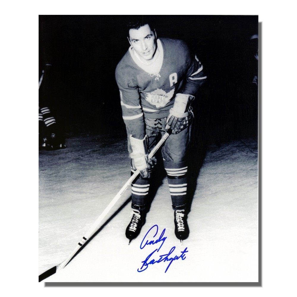 Andy Bathgate Autographed Toronto Maple Leafs 8x10 Photo