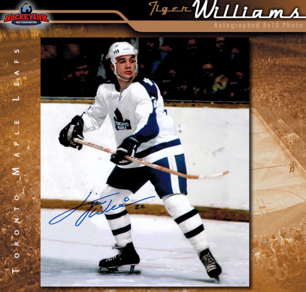 TIGER WILLIAMS Signed Toronto Maple Leafs 8 X 10 Photo - 70507